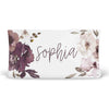 dusty purple personalized changing pad