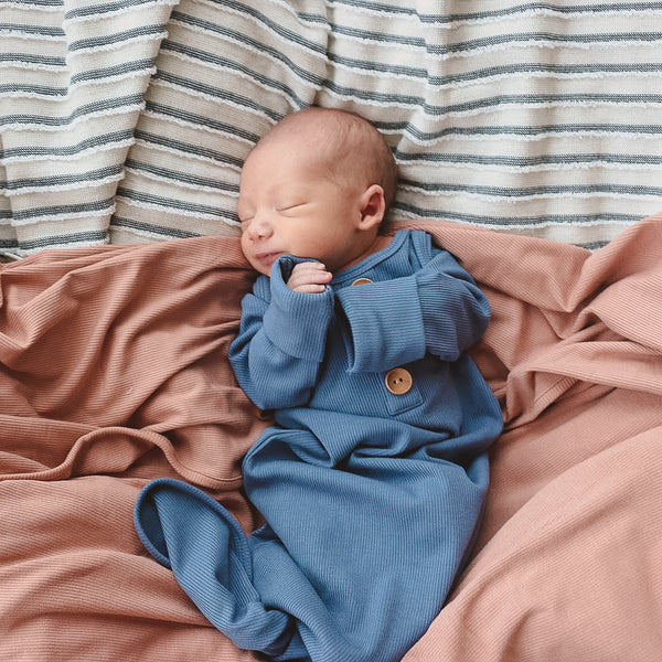 camel ribbed bamboo swaddle newborn