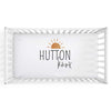 sunrise personalized crib sheet