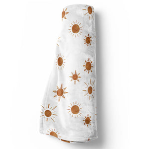 sun baby stroller blanket in rust