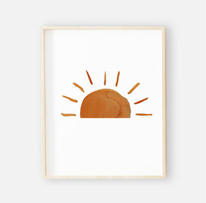 Desert Suns Digital Nursery Wall Art Print 2