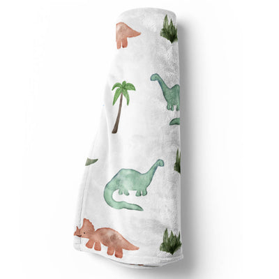 Dawson's Dino Friends Baby Blanket for a dinosaur nursery