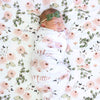 pink and green personalized swaddle