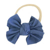 Solid Dusty Blue Knit Bow Headband
