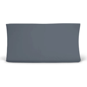 Solid Dusty Blue Bamboo Knit Changing Pad Cover