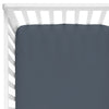 Solid Dusty Blue Bamboo Knit Crib Sheet*
