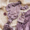 purple personalized knot gown newborn