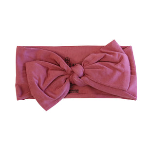 dusty pink newborn stretchy headwrap