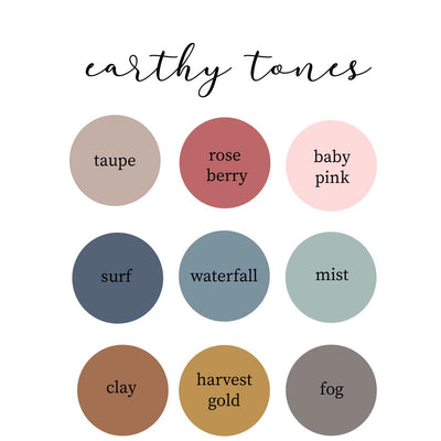 Earthy Tones Personalized Color Blanket