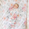 Crib Sheet - Ella's Dusty Rose Vintage Floral~