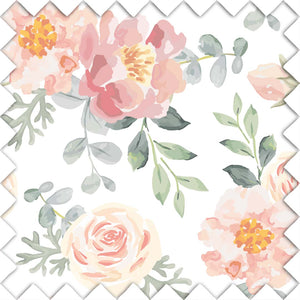 Ella's Vintage Dusty Rose Floral Fabric Swatch for your nursery