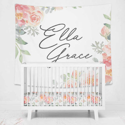 Dusty Pink nursery wall tapestry