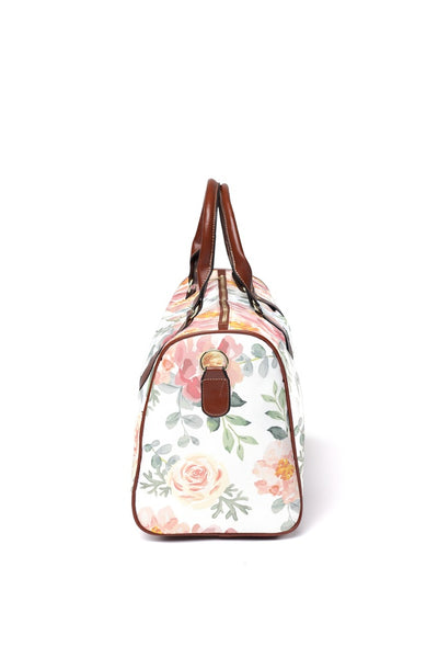 Ella's Dusty Rose Floral Overnight Travel Bag