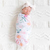 shabby chic newborn swaddle