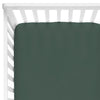 emerald green crib sheet