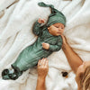 emerald green personalize knotted gown