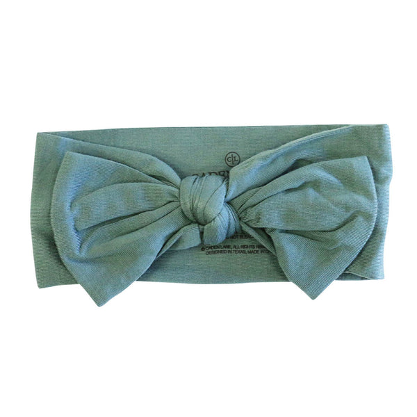emerald green bow headband stretchy