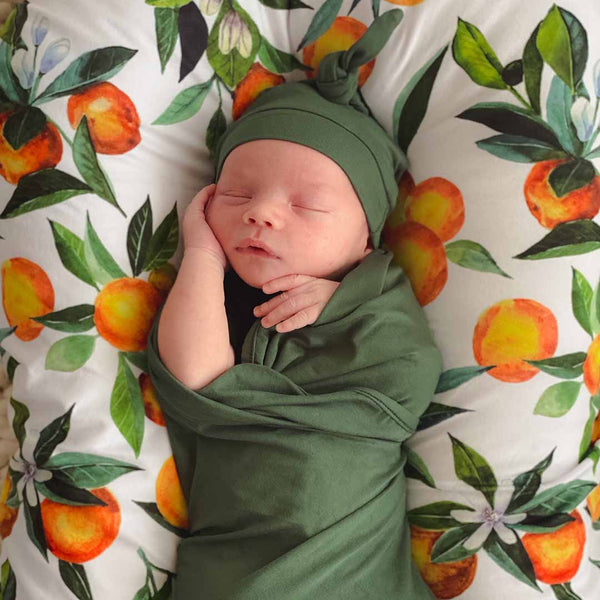 solid emerald green swaddle