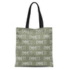solid moss personalized kids custom name tote bag