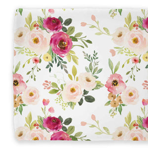 franny's blush and magenta farmhouse floral changing pad cover