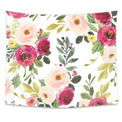 Franny's Farmhouse Floral Wall Tapestry