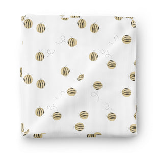 bee print oversized swaddle
