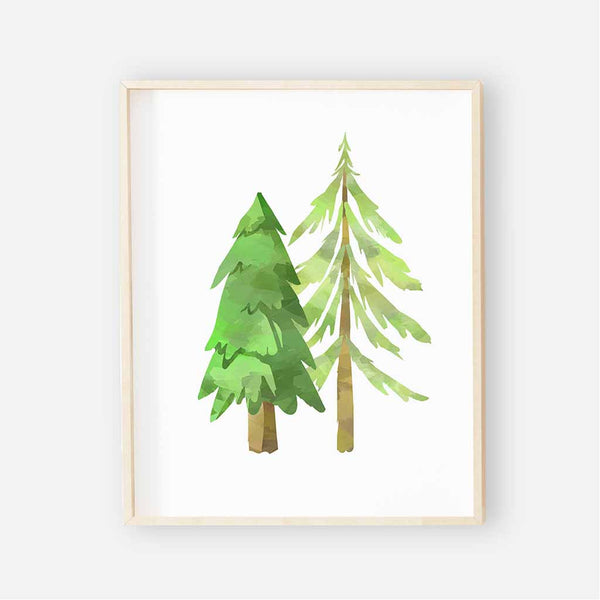 forest woodland tree digital wall art