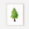 little green tree digital art print