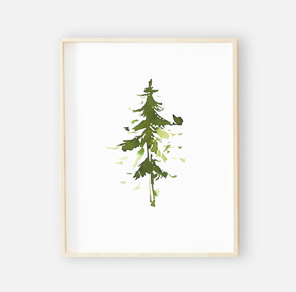 Forest Tree Digital Nursery Art