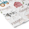 Frankie's Farm Party Personalized Toddler Blanket