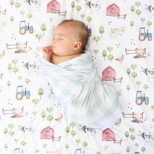 frankie farm party swaddle