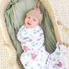 Solid Moss Bamboo Knit Swaddle Blanket*
