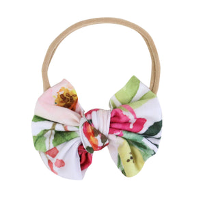 Franny's Farmhouse Floral Knit Bow Headband