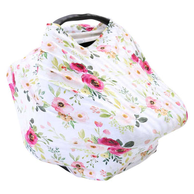 Franny's Farmhouse Floral Multi-Use Stretchy Car Seat & Nursing Cover