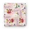 butterfly floral personalized swaddle newborn