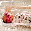 harper butterfly personalized swaddle for hospital newborn
