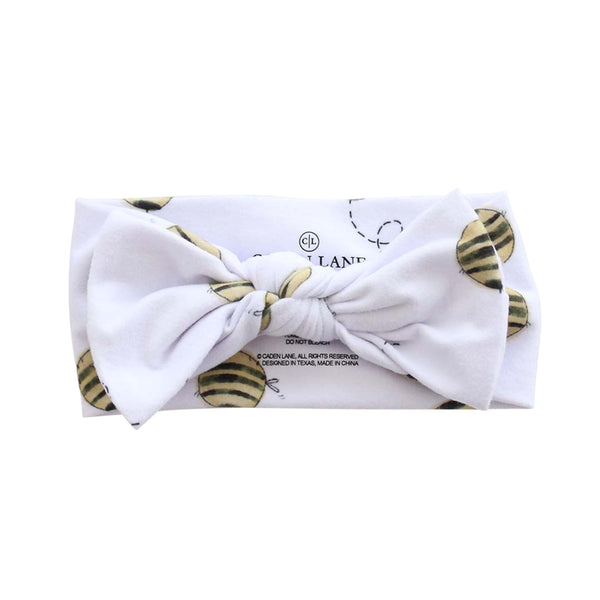 Honey's Bees Large Bow Headwrap