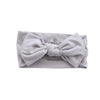 Solid Light Gray Knit Large Bow Headwrap*