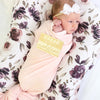 Solid Blush Bamboo Knit Swaddle Blanket*