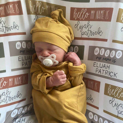 green, mustard, rust hello my name is swaddle