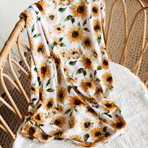 sunflower newborn soft swaddle