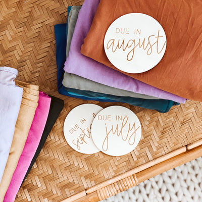 Personalized Pregnancy Wood Announcement | DUE IN