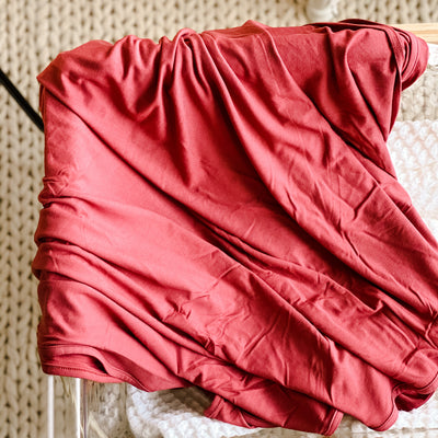 Solid Pomegranate Oversized Swaddle Blanket
