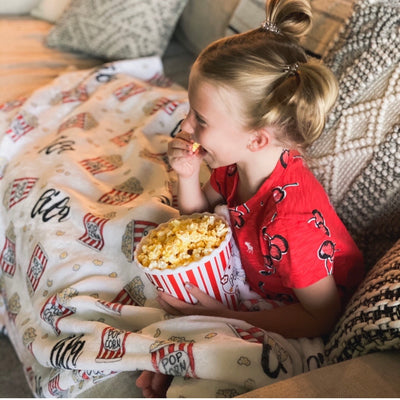 movie night kids blankey