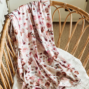 Rosie's Rose Garden Oversized Swaddle Blanket