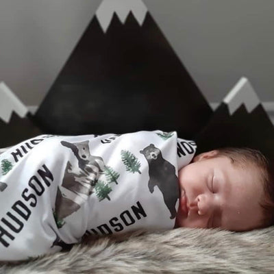 Brody's Personalized Baby Name Swaddle Blanket
