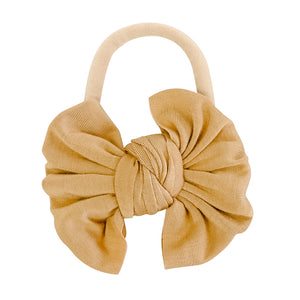 Solid Mustard Knit Bow Headband
