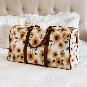 sunflower print hospital bag