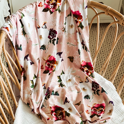 butterfly floral swaddle blanket for newborn