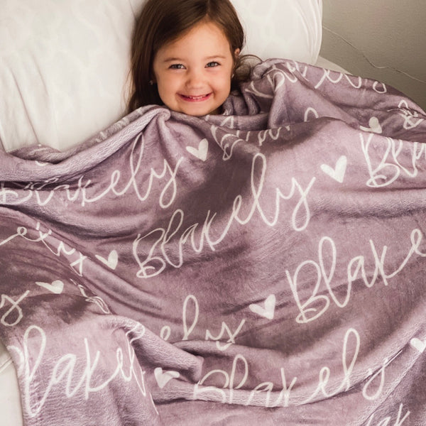 kids personalized throw blanket